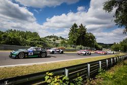 Start: #14 Black Falcon Mercedes-Benz SLS AMG GT3: Abdulaziz Al Faisal, Hubert Haupt, Adam Christodoulou, Yelmer Buurman