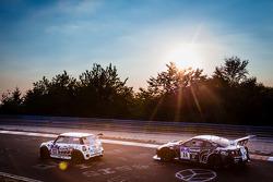 #133 BMW Mini JCW: Ralf Zensen, Lothar Wilms, Jürgen Bretschneider, #24 Schulze Motorsport Nissan GT-R Nismo GT3: Kazunori Yamauchi, Tobias Schulze, Michael Schulze, Jordan Tresson
