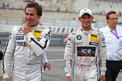 Robert Wickens, Mercedes AMG DTM-Team HWA DTM Mercedes AMG C-Coupé and Marco Wittmann, BMW Team RMG BMW M4 DTM