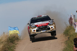 WRC: Mads Ostberg and Jonas Andersson, Citroën DS3 WRC, Citroën Total Abu Dhabi World Rally Team