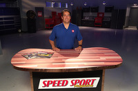 Ralph Sheheen on the set of Speed Sport Magazine