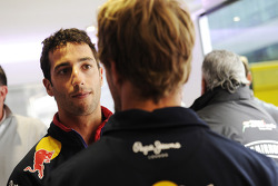 Daniel Ricciardo, Red Bull Racing with team mate Sebastian Vettel, Red Bull Racing