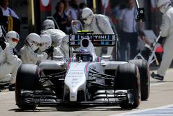 F1: Valtteri Bottas, Williams F1 Team during pitstop