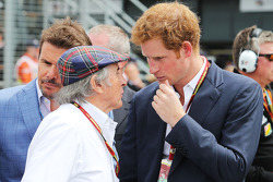 Jackie Stewart, on the grid with HRH Prince Harry (GBR)