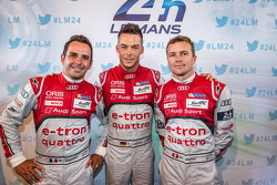 Benoit Tréluyer, Andre Lotterer and Marcel Fässler