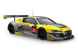#25 Saintéloc Racing Audi R8 LMS ultra: Jean-Paul Buffin, Claude-Yves Gosselin, Philippe Haezebrouck, Marc Rostan