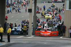 Pro Stock staging lanes at Bandimere Speedway