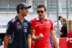F1: (L to R): Daniel Ricciardo, Red Bull Racing and Jules Bianchi, Marussia F1 Team on the drivers parade