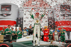 INDYCAR: Race winner Mike Conway, Ed Carpenter Racing Chevrolet