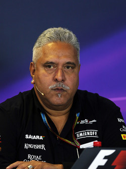 F1: Dr. Vijay Mallya, Sahara Force India F1 Team Owner in the FIA Press Conference