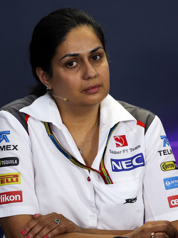 F1: Monisha Kaltenborn, Sauber Team Principal in the FIA Press Conference