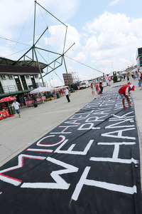 A painted message of support for Michael Schumacher