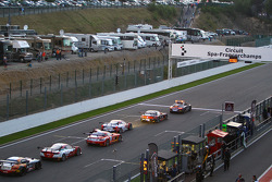 The race is red flagged after major crash