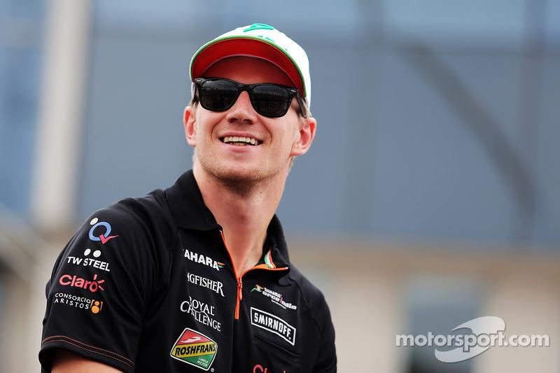 Nico Hulkenberg, Sahara Force India F1 on the drivers parade.
