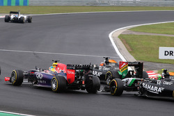 Sebastian Vettel, Red Bull Racing and Sergio Perez, Sahara Force India