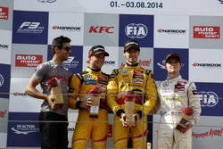 EUROF3: Podium: winner Antonio Giovinazzi, second place Tom Blomqvist, third place Lucas Auer