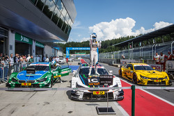 Parc fermé: race winner Marco Wittmann, BMW Team RMG BMW M4 DTM celebrates