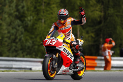 Marc Marquez, Repsol Honda Team waves to fans after his winning streak was broken