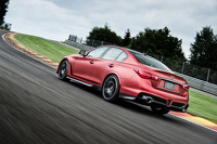 Sebastian Vettel drives the Infiniti Q50 Eau Rouge