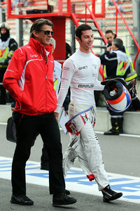 (L to R): Graeme Lowdon, Marussia F1 Team Chief Executive Officer with Alexander Rossi, Marussia F1 Team