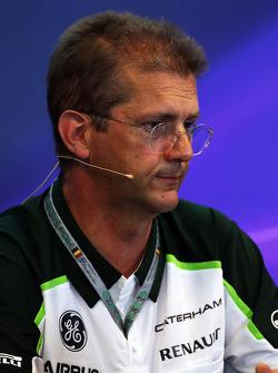 John Iley, Caterham F1 Team Technical Director in the FIA Press Conference