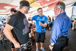 RALLYCROSS: #43 Hoonigan Racing Division Ford Fiesta ST: Ken Block and #67 Hyundai / Rhys Millen Racing Hyundai Veloster: Rhys Millen