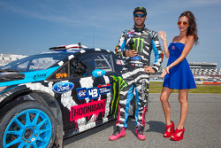 #43 Hoonigan Racing Division Ford Fiesta ST: Ken Block with the Red Bull girl