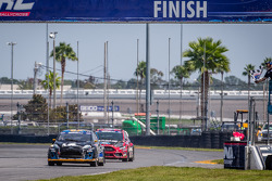 #14 Barracuda Racing Ford Fiesta ST: Austin Dyne takes the checkered flag