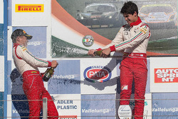Podium: race winner Lance Stroll, second place Takashi Kasai