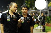 (L to R): Gianpiero Lambiase, Sahara Force India F1 Engineer with Sergio Perez, Sahara Force India F1