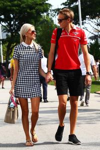 Max Chilton, Marussia F1 Team with his girlfriend Chloe Roberts