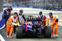 Sebastian Vettel, Red Bull Racing RB10 stops at the end of FP1