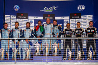 LMGTE Am class podium: first place Paul Dalla Lana, Pedro Lamy, Christoffer Nygaard, second place Kristian Poulsen, David Heinemeier Hansson, Richie Stanaway, third place Christian Ried, Klaus Bachler, Khaled Al Qubaisi
