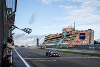 #1 Belgian Audi Club Team WRT Audi R8 LMS Ultra: Cesar Ramos, Laurens Vanthoor, Christopher Mies takes the checkered flag to win the race