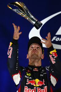2nd place Sebastian Vettel, Red Bull Racing RB10