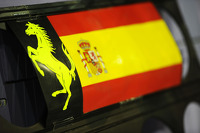 Pit board for Fernando Alonso, Ferrari
