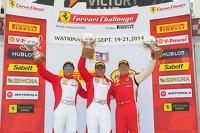 Race winner Emmanuel Anassis, second place Damon Ockey, third place Ryan Ockey