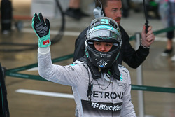 Nico Rosberg, Mercedes AMG F1 celebrates his second position in parc ferme