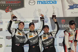 GTD podium: third place John Potter, Andy Lally, Marco Seefried