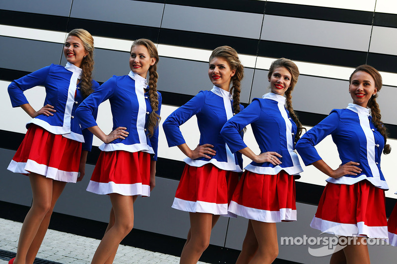 Lovely Sochi Grid Girls At Russian Gp