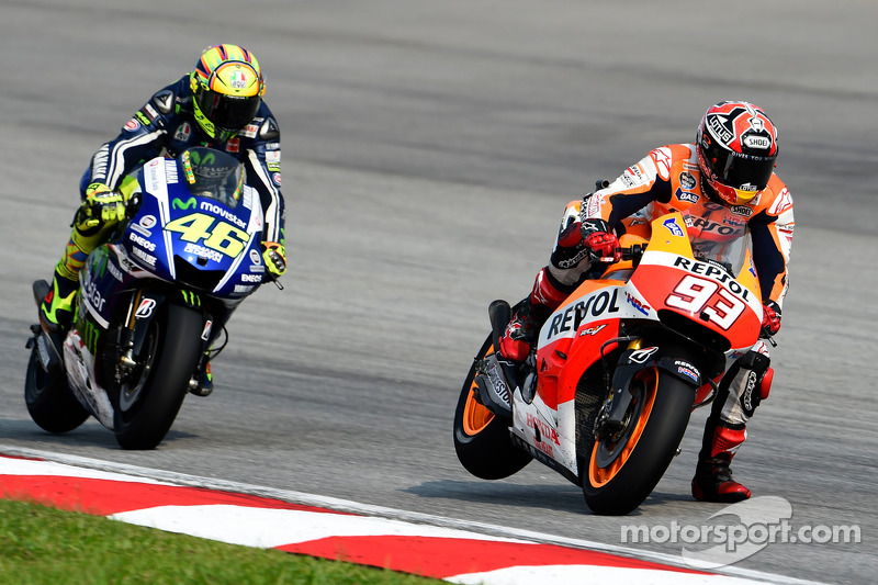 Marc Marquez and Valentino Rossi at Malaysian GP