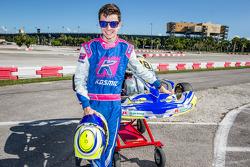 Stirling Fairman with his Motorsport.com kart