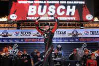 Kyle Busch celebrates