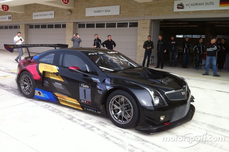 The New Cadillac Ats V R Gt3 Spec Race Car At Cadillac Gt3