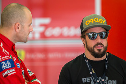 Gianmaria Bruni with Fernando Alonso