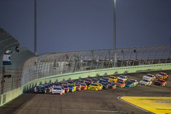 Restart: Kyle Larson and Kyle Busch lead the field