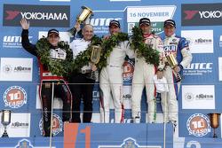 Race winner Jose Maria Lopez, second place Norbert Michelisz, third place Gabriele Tarquini