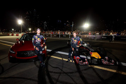 Sebastian Vettel and Daniel Ricciardo at the Infiniti Road Show