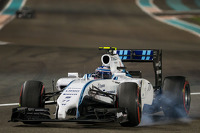 Valtteri Bottas, Williams FW36 locks up under braking
