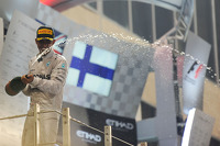 Race winner and World Champion Lewis Hamilton, Mercedes AMG F1 celebrates on the podium